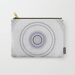 White and light Purple simple Mandala Design Carry-All Pouch