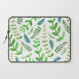 Greenery Leaves Pattern Laptop Sleeve