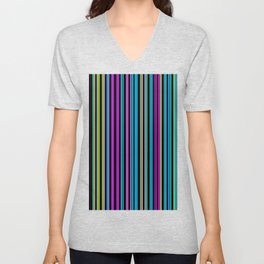 Re-Created Channels xxviii by Robert S. Lee Unisex V-Neck