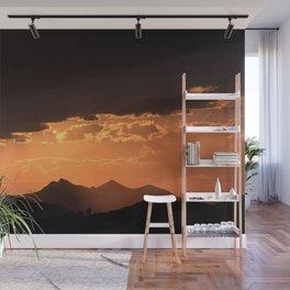 Desert Mountain Sunset V Wall Mural