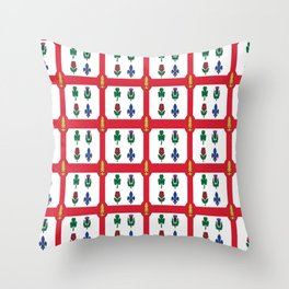 Flag of montreal -montrealais,montrealer,montreales,quebec, canada. Throw Pillow