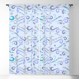 Abstract Beautiful Glittery Waves Blackout Curtain