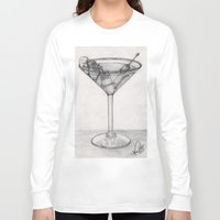 martini Long Sleeve T-shirts featuring Addiction martini by CharlieValintyne