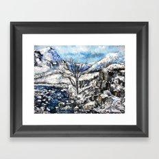 Glencoe snows Framed Art Print