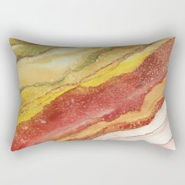 AGATE Inspired Watercolor Abstract 03 Rectangular Pillow