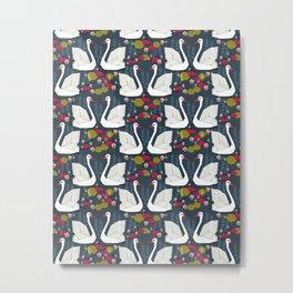 Swans by Andrea Lauren  Metal Print