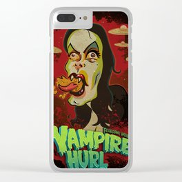 Vampire Hurl Clear iPhone Case