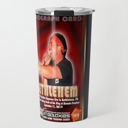Richie Knucklez appearance card - King of Arcades World Premiere, Bethlehem PA Travel Mug