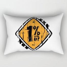 1 Percenter Rectangular Pillow