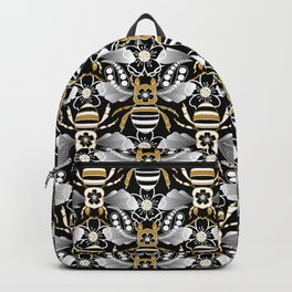 Beats n Bees - Black, Gold & Silver Backpack