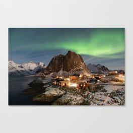 Northern Lights Over Hamnøy Canvas Print