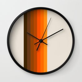 Retro Golden Rainbow - Straight Wall Clock