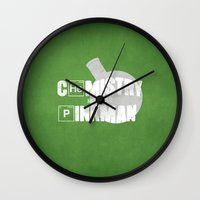 chemistry Wall Clocks featuring Chemistry by 5eth