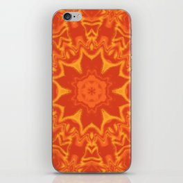 Red Orange and Yellow Kaleidoscope 5 iPhone Skin