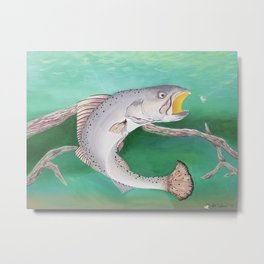 Take The Bait - Speckled Trout Metal Print