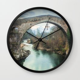 The hump-backed Roman Bridge Wall Clock