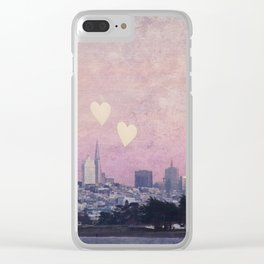 Where We Left Our Hearts Clear iPhone Case