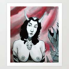 Devil's Plaything Art Print