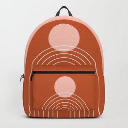 Mid Century Modern Geometric 64 (Rainbow and Sun Abstraction) Backpack
