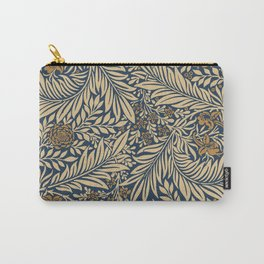 Blue Vintage Floral Pattern Carry-All Pouch