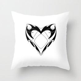 Shadowhunters rune silhouette and tribal heart - Parabatai - Malec Throw Pillow