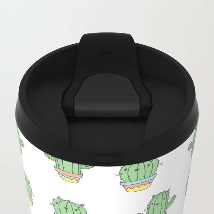 Cat-cus Metal Travel Mug
