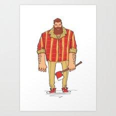The Woodchop Art Print
