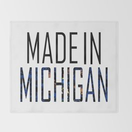 Made In Michigan Throw Blanket