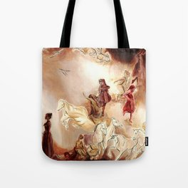 Imagined dream horses children dancing painting Tote Bag