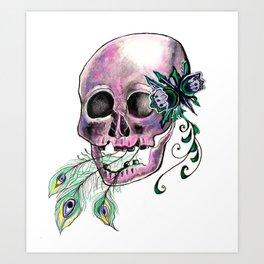 The Death of Flight--Purple Art Print