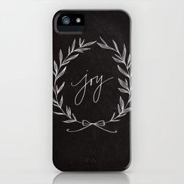 Chalkboard Art - Joy Wreath iPhone Case