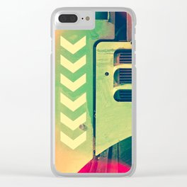 Road Roller Chevron 02 - Industrial Abstract (everyday 18.01.2017) Clear iPhone Case