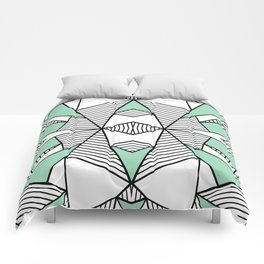 Triangle Tribal Mint Comforters