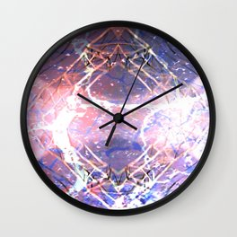 Abstract Ripple Reflection Wall Clock