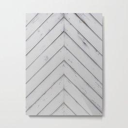 Wooden pattern - arrow shape, art decor Metal Print