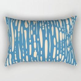 Ice Melt Stripes - Orange Sherbet on Saltwater Taffy Teal Rectangular Pillow