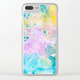 Watercolour abstract floral 1 Clear iPhone Case