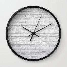 White Brick Wall Clock