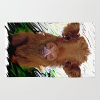 cow Area & Throw Rugs featuring cow by Vector Art