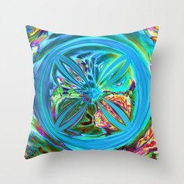 Inverted/Solarized Abstract 9 Throw Pillow