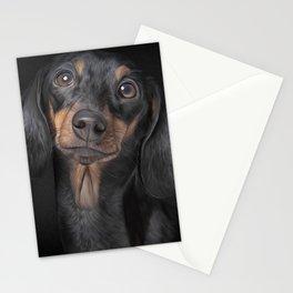 Drawing Dog breed dachshund Stationery Cards