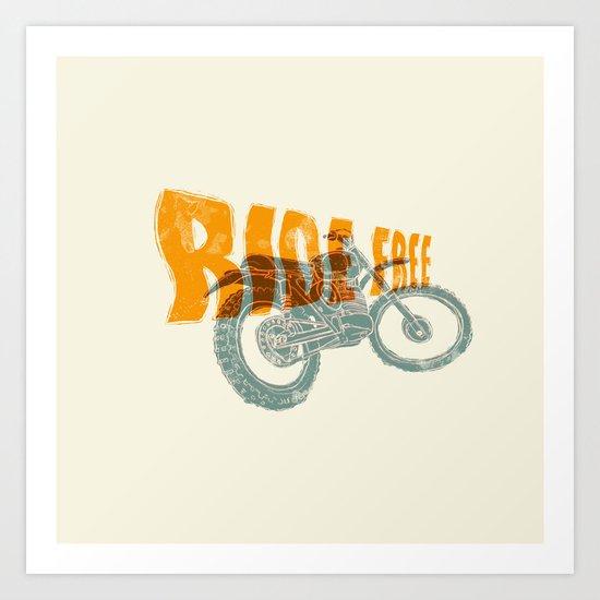 Ride free motocross Art Print