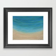 Seas The Day beach painting Framed Art Print