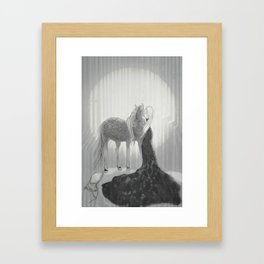 Our Hearts In the Moonlight  Framed Art Print