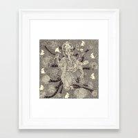 ganesh Framed Art Prints featuring Ganesh by nu boniglio
