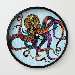 Electric Octopus Wall Clock