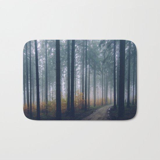 Into the woods #fog Bath Mat