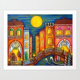 Venice Soiree Art Print