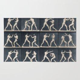 Time Lapse Motion Study Men Kick Boxing Rug