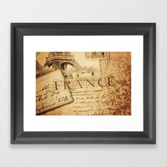 I ♥ France Framed Art Print